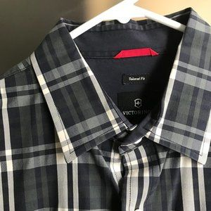 Victorinox Tailored Fit Plaid Button Down